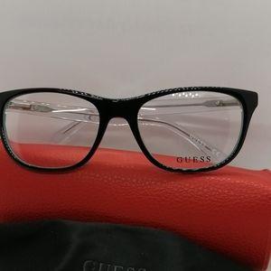 New/Authentic Guess Eyeglass GU299V BLACK/CRYSTAL
